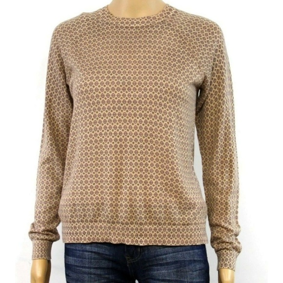 LOFT Tops - LOFT Women's Sweater Pullover Tan Polka Dot